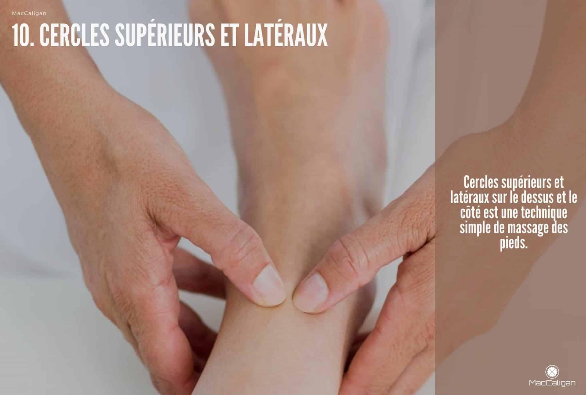 10. CERCLES SUPÉRIEURS ET LATÉRAUX - massage pied technique
