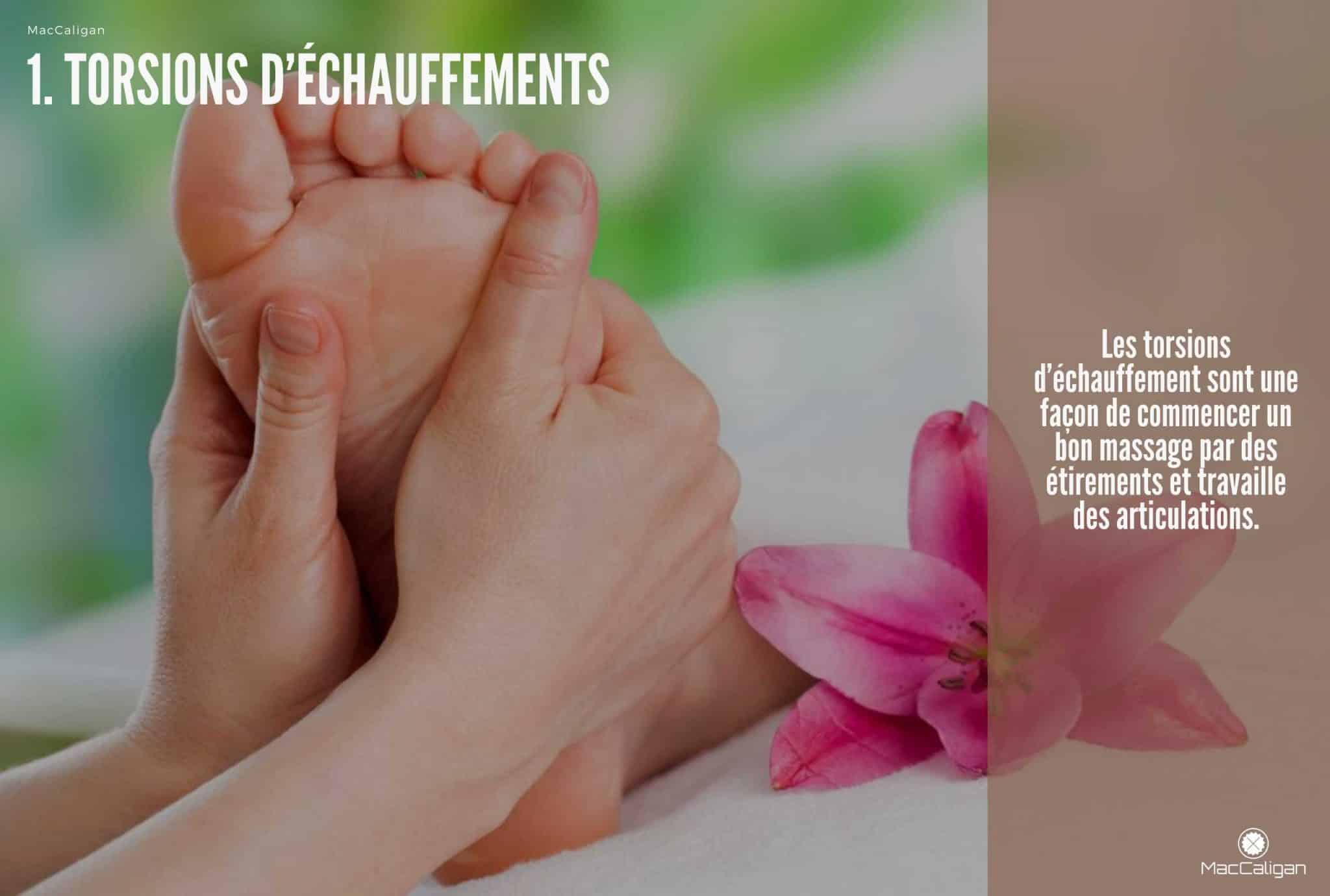 appareil massage pieds circulation - 1. TORSIONS D'ÉCHAUFFEMENTS